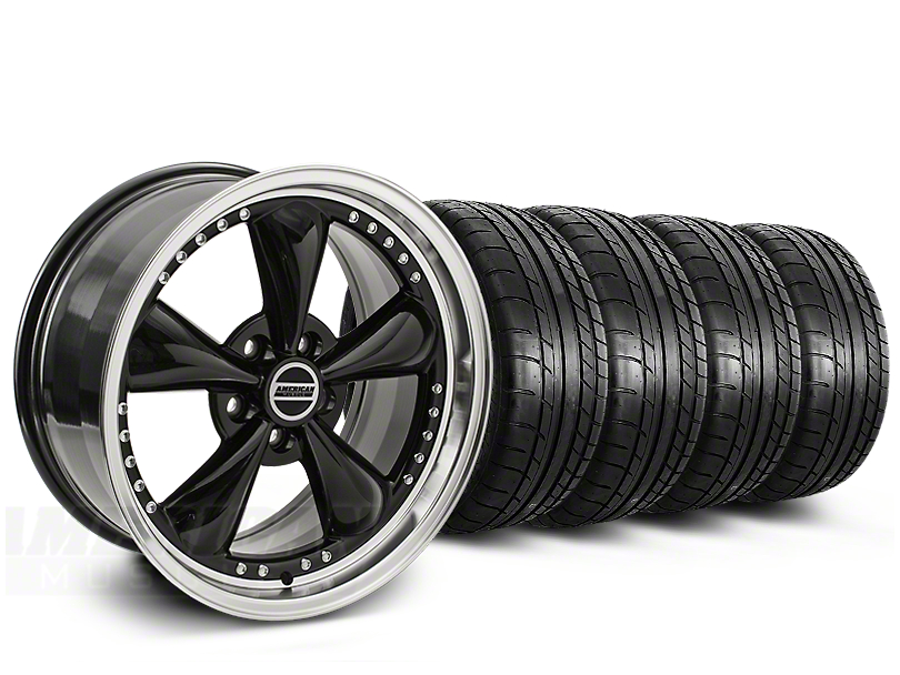 Bullitt Motorsport Black Wheel & Mickey Thompson Tire Kit - 20x8.5 (15-19 EcoBoost, V6)
