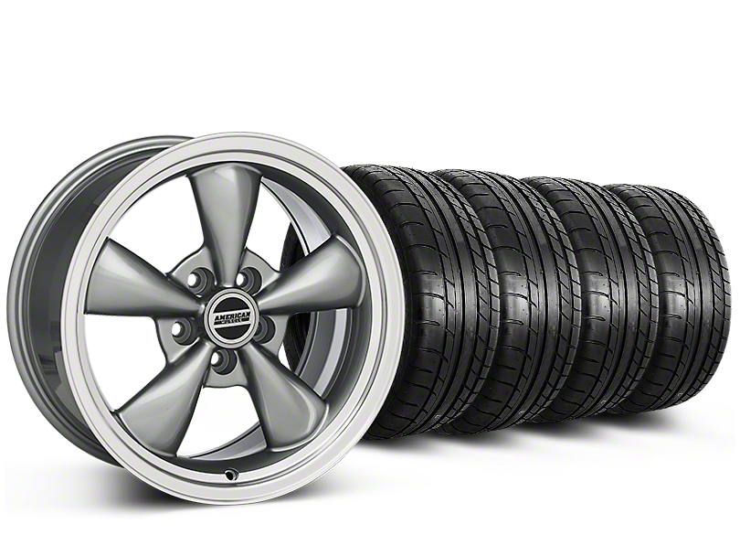 Deep Dish Bullitt Anthracite Wheel & Mickey Thompson Tire Kit - 20x8.5 (15-19 EcoBoost, V6)