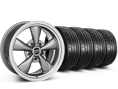 Deep Dish Bullitt Anthracite Wheel & Mickey Thompson Tire Kit - 20x8.5 (15-17 EcoBoost, V6)