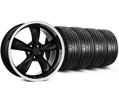 Deep Dish Bullitt Black Wheel & Mickey Thompson Tire Kit - 20x8.5 (15-17 All)