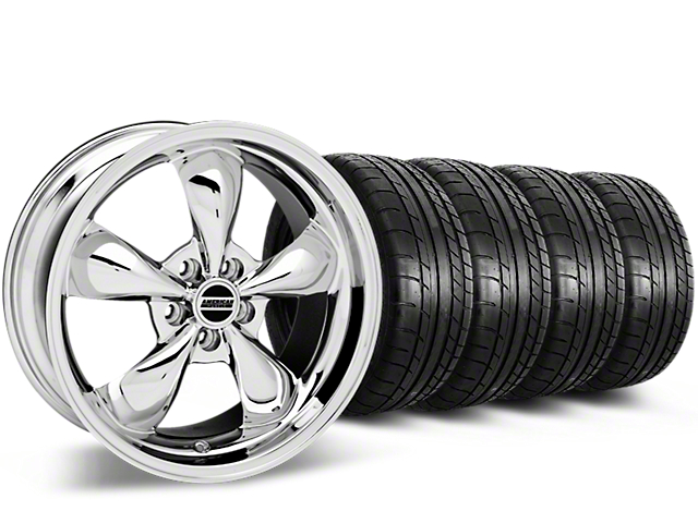 Deep Dish Bullitt Chrome Wheel & Mickey Thompson Tire Kit - 20x8.5 (15-17 EcoBoost, V6)