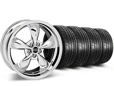 Deep Dish Bullitt Chrome Wheel & Mickey Thompson Tire Kit - 20x8.5 (15-18 EcoBoost, V6)