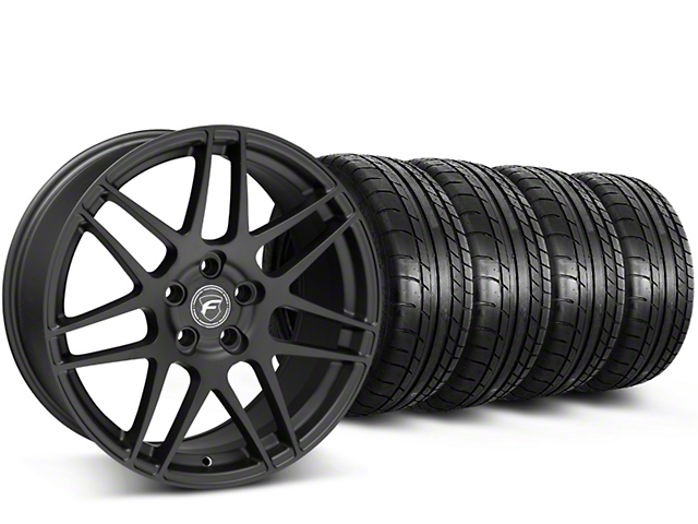 Forgestar F14 Monoblock Matte Black Wheel & Mickey Thompson Tire Kit - 20x9 (15-19 GT, EcoBoost, V6)