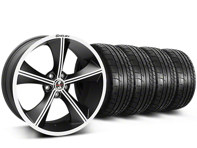 Shelby CS70 Matte Black Wheel & Mickey Thompson Tire Kit - 20x9 (15-17 All)