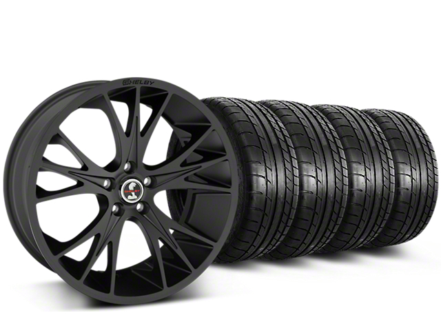Shelby CS1 Matte Black Wheel & Mickey Thompson Tire Kit - 20x9 (15-17 All)