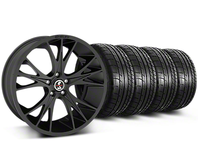Shelby CS1 Matte Black Wheel & Mickey Thompson Tire Kit - 20x9 (15-17 All)