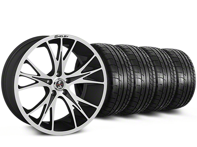 Shelby CS1 Black Machined Wheel & Mickey Thompson Tire Kit - 20x9 (15-17 All)