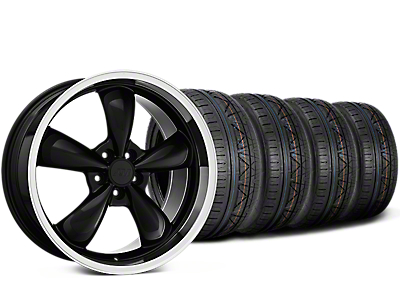 Deep Dish Bullitt Black Wheel & NITTO INVO Tire Kit - 20x8.5 (15-18 EcoBoost, V6)