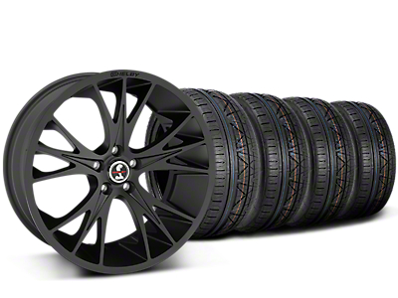 Shelby CS1 Matte Black Wheel & NITTO INVO Tire Kit - 20x9 (15-17 All)