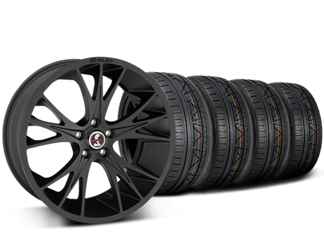 Staggered Shelby CS1 Matte Black Wheel & NITTO INVO Tire Kit - 20x9/11 (15-17 All)