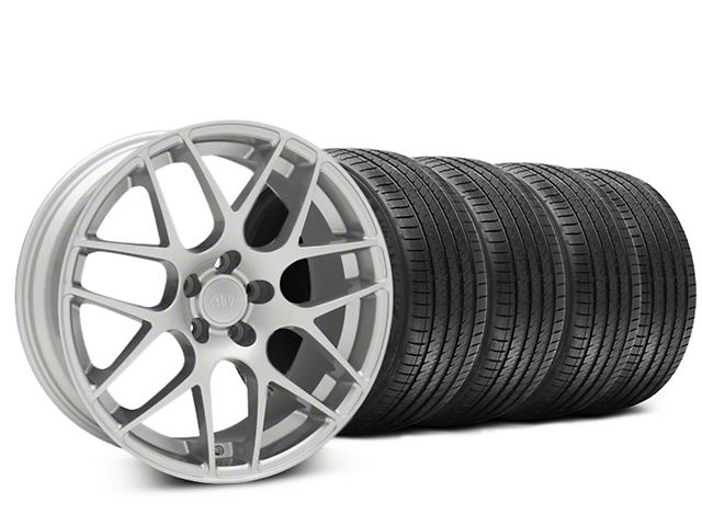 Staggered AMR Silver Wheel & Sumitomo Tire Kit - 20x8.5/10 (15-18 GT, EcoBoost, V6)