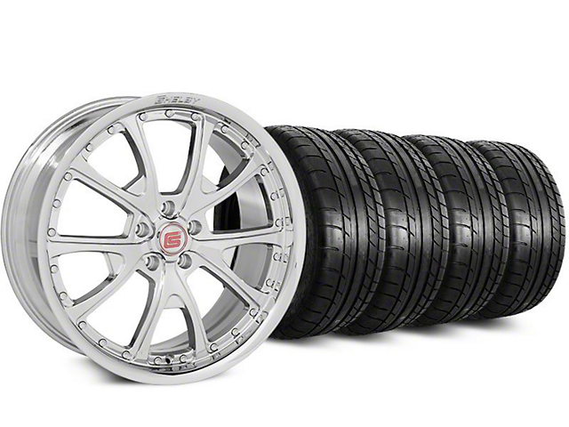 Staggered Shelby CS40 Chrome Wheel & Mickey Thompson Tire Kit - 20 in. - 2 Rear Options (15-17 All)