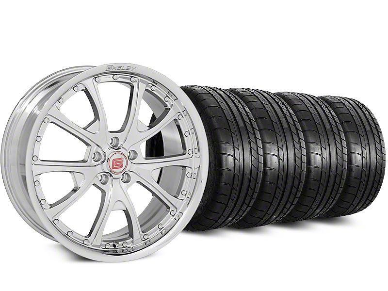 Shelby Staggered CS40 Chrome Wheel & Mickey Thompson Tire Kit - 20x9/11 (15-17 All)