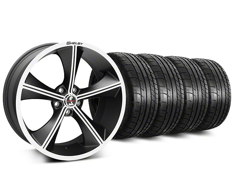 Staggered Shelby CS70 Matte Black Wheel & Mickey Thompson Tire Kit - 20 in. - 2 Rear Options (15-17 All)