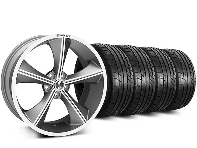 Staggered Shelby CS70 Gunmetal Wheel & Mickey Thompson Tire Kit - 20 in. - 2 Rear Options (15-17 All)