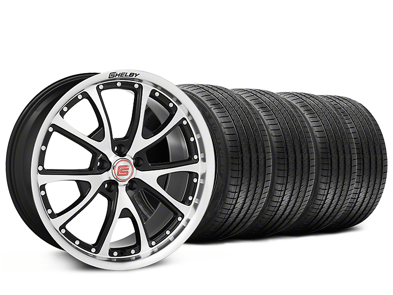 Staggered Shelby CS40 Black Machined Wheel & Sumitomo Tire Kit - 20x9/10 (15-17 V6, GT, and EcoBoost)