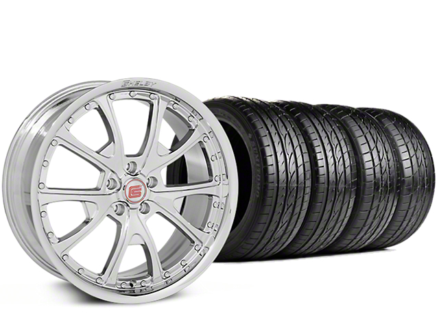 Staggered Shelby CS40 Chrome Wheel & Sumitomo Tire Kit - 20x9/10 (15-18 GT, EcoBoost, V6)