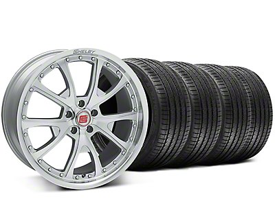 Staggered Shelby CS40 Silver Machined Wheel & Sumitomo Tire Kit - 20x9/10 (15-17 V6, GT, and EcoBoost)