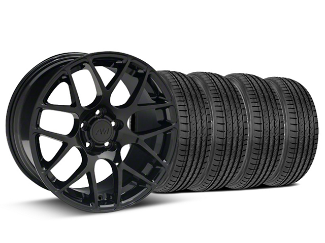Staggered AMR Black Wheel & Sumitomo Tire Kit - 19x8.5/10 (15-19 GT, EcoBoost, V6)