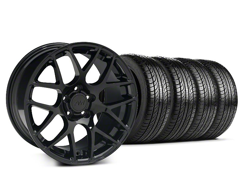 AMR Black Wheel & Pirelli Tire Kit - 19x8.5 (15-19 GT, EcoBoost, V6)
