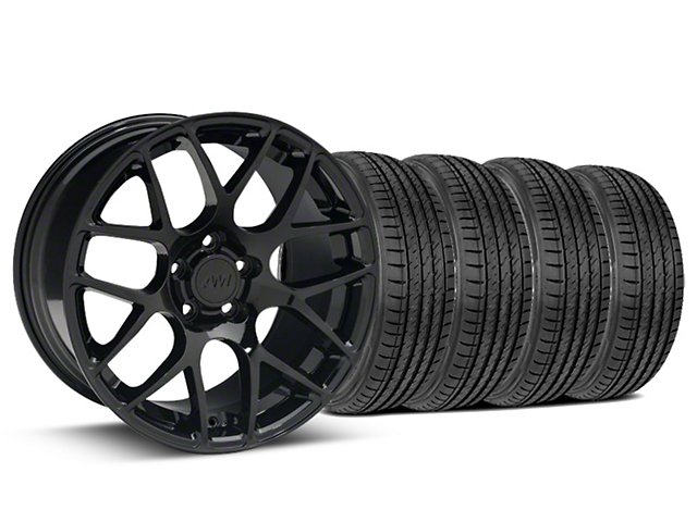 AMR Black Wheel & Sumitomo Tire Kit - 19x8.5 (15-18 GT, EcoBoost, V6)