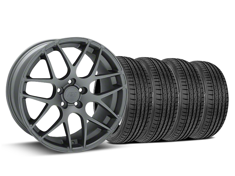 AMR Charcoal Wheel & Sumitomo Tire Kit - 19x8.5 (15-18 GT, EcoBoost, V6)