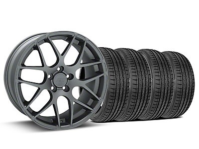 AMR Charcoal Wheel & Sumitomo Tire Kit - 19x8.5 (15-18 All)