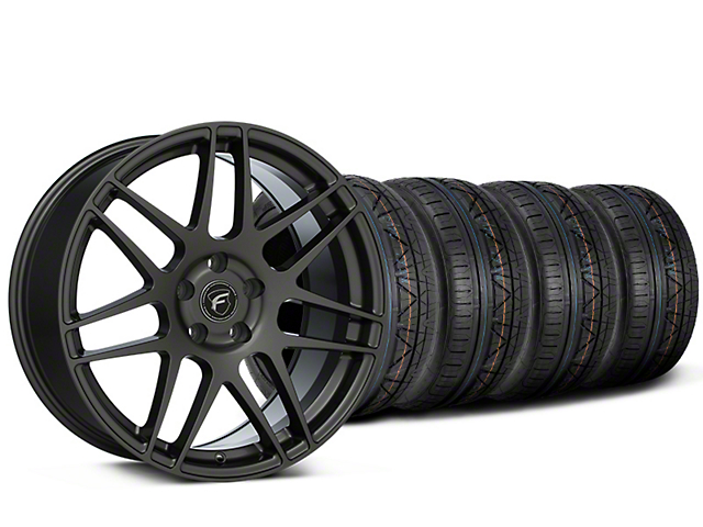 Staggered Forgestar F14 Monoblock Gunmetal Wheel & NITTO INVO Tire Kit - 19x9/11 (15-19 All)