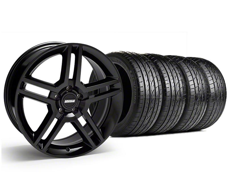 2010 GT500 Style Black Wheel & Sumitomo Tire Kit - 19x8.5 (15-18 GT, EcoBoost, V6)