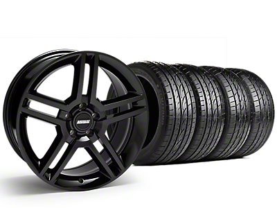2010 GT500 Style Black Wheel & Sumitomo Tire Kit - 19x8.5 (15-18 GT, EcoBoost, V6)