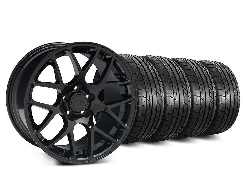 AMR Black Wheel & Mickey Thompson Tire Kit - 19x8.5 (15-18 All)