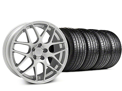 Staggered AMR Silver Wheel & Sumitomo Tire Kit - 19x8.5/10 (15-18 GT, EcoBoost, V6)