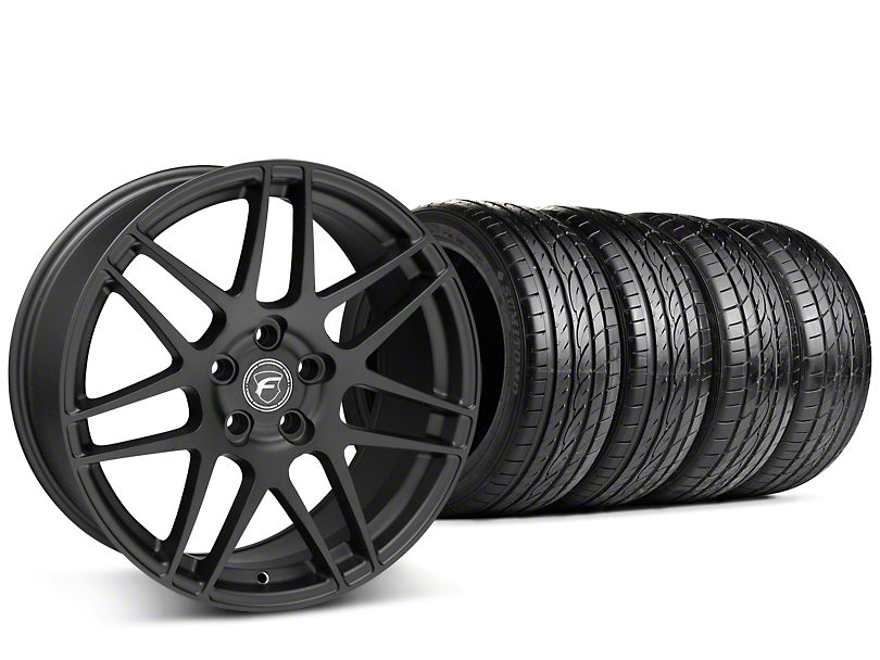 Staggered Forgestar F14 Matte Black Wheel & Sumitomo Tire Kit - 19x9/10 (15-18 GT, EcoBoost, V6)