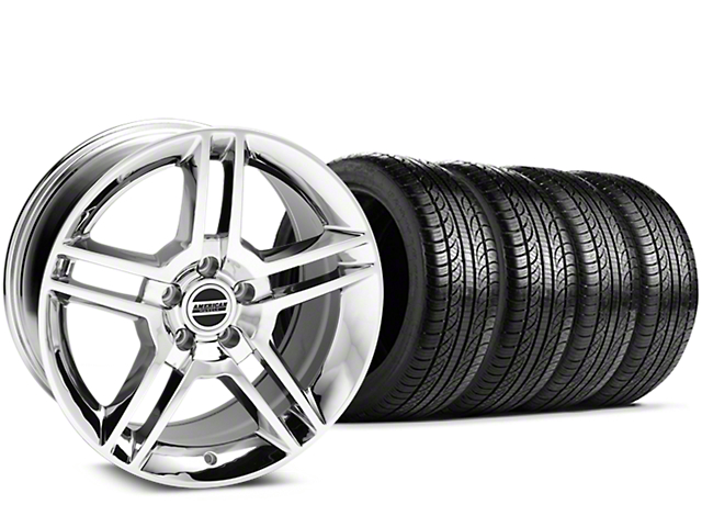 2010 GT500 Style Chrome Wheel & Pirelli Tire Kit - 19x8.5 (15-19 All)