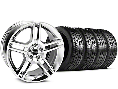 2010 GT500 Style Chrome Wheel & Pirelli Tire Kit - 19x8.5 (15-18 All)