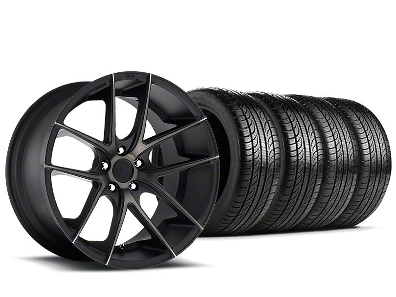 Staggered Niche Targa Black Wheel & Pirelli Tire Kit - 19x8.5/9.5 (15-18 All)