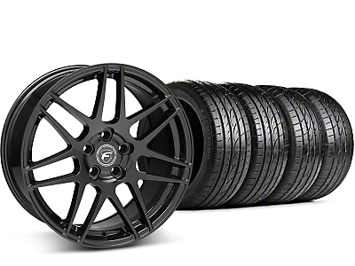 Staggered Forgestar F14 Piano Black Wheel & Sumitomo Tire Kit - 19x9/10 (15-18 GT, EcoBoost, V6)