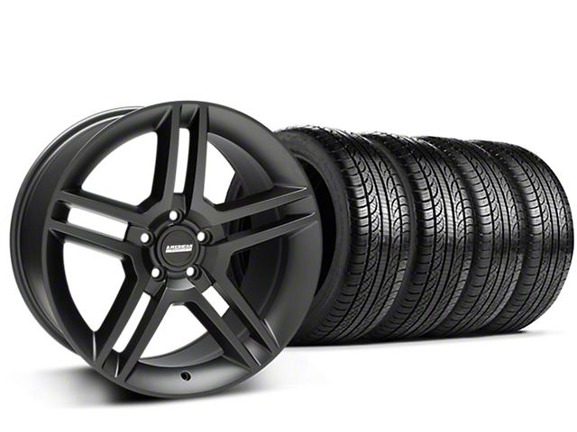 2010 GT500 Style Matte Black Wheel & Pirelli Tire Kit - 19x8.5 (15-19 All)