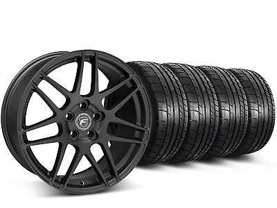 Staggered Forgestar F14 Monoblock Matte Black Wheel & Mickey Thompson Tire Kit - 19x9/10 (15-17 All)