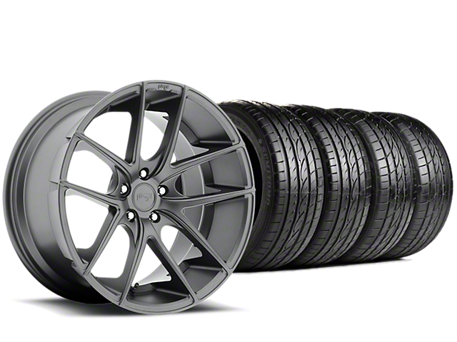 Staggered Niche Targa Anthracite Wheel & Sumitomo Tire Kit - 19x8.50/9.5 (15-18 All)