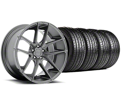 Staggered Niche Targa Anthracite Wheel & Sumitomo Tire Kit - 19x8.50/9.5 (15-19 All)