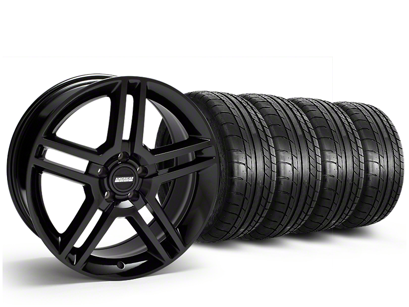 2010 GT500 Style Black Wheel & Mickey Thompson Tire Kit - 19x8.5 (15-18 All)