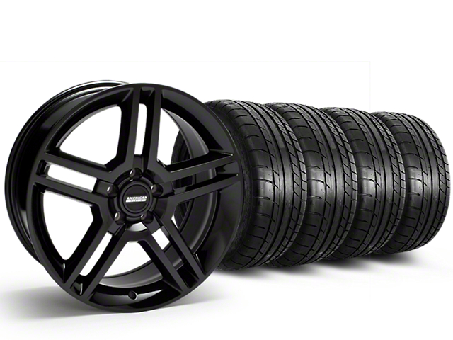 2010 GT500 Style Black Wheel & Mickey Thompson Tire Kit - 19x8.5 (15-19 All)