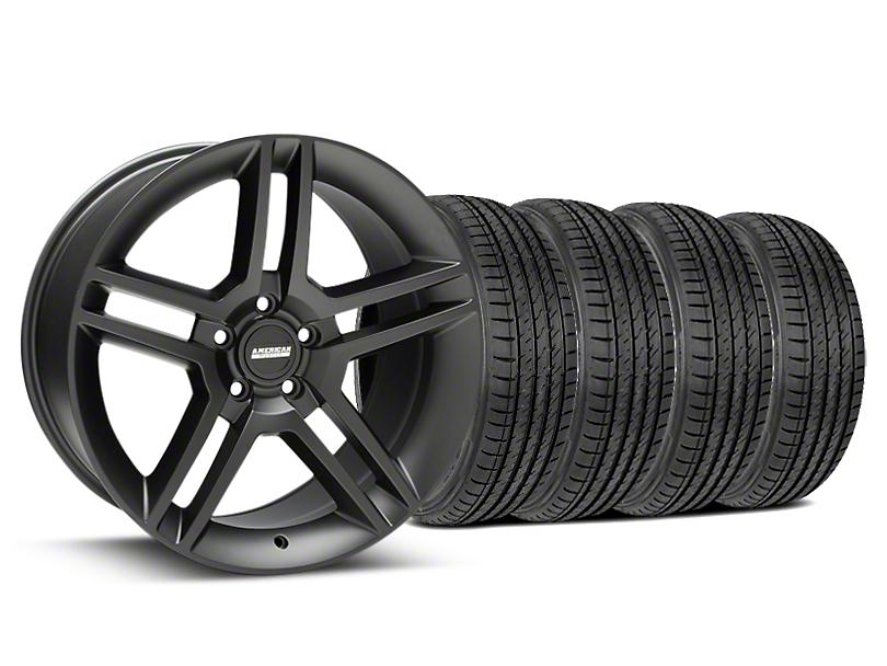 2010 GT500 Style Matte Black Wheel & Sumitomo Tire Kit - 19x8.5 (15-19 GT, EcoBoost, V6)