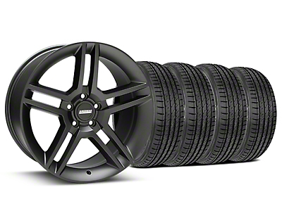 2010 GT500 Style Matte Black Wheel & Sumitomo Tire Kit - 19x8.5 (15-18 GT, EcoBoost, V6)
