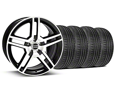 2010 GT500 Style Black Machined Wheel & Sumitomo Tire Kit - 19x8.5 (15-19 GT, EcoBoost, V6)