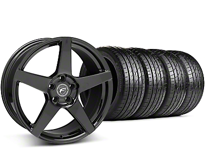 Staggered Forgestar CF5 Piano Black Wheel & Sumitomo Tire Kit - 19x9/10 (15-17 All)