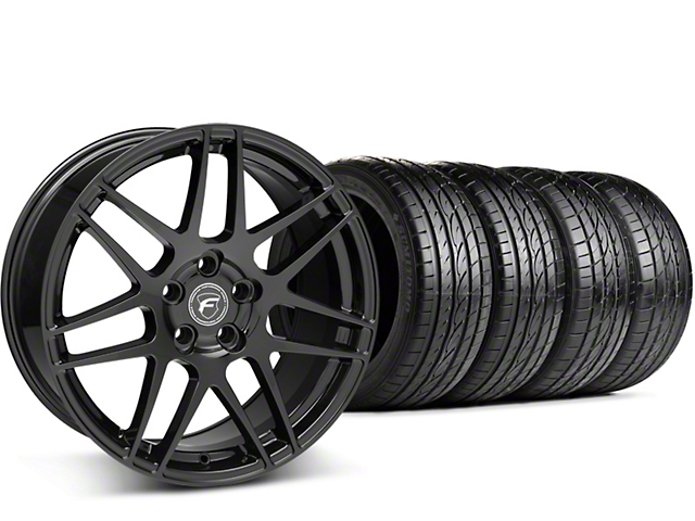 Forgestar F14 Monoblock Piano Black Wheel & Sumitomo Tire Kit - 19x9 (15-18 GT, EcoBoost, V6)