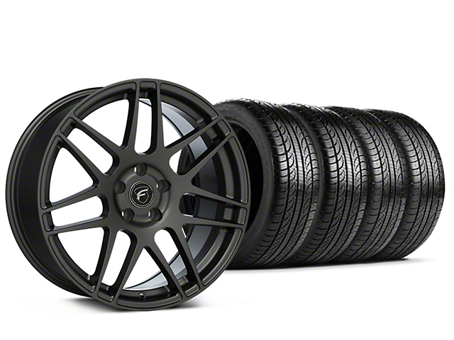 Forgestar F14 Monoblock Gunmetal Wheel & Pirelli Tire Kit - 19x9 (15-18 All)