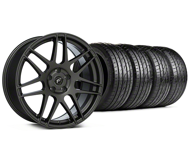 Staggered Forgestar F14 Gunmetal Wheel & Sumitomo Tire Kit - 19x9/10 (15-20 GT, EcoBoost, V6)